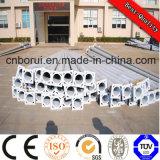 Q235, Q420, Q345, material de aço e tipo redondo rua solar galvanizada sextavada pólo claro