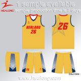 Healong neuer Entwurfs-Sportkleidung-Sublimation-Basketball Jersey