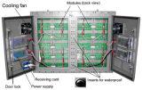 Armário simples do ferro do quadro de avisos da tela de exposição do diodo emissor de luz da cor cheia de P10-8s