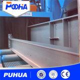 Machine de nettoyage de souffle d'injection de structure métallique de poutre en double T