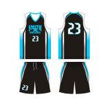 Uniforme neuf de basket-ball de couleur de noir de modèle pour le club de basket-ball de requin de Smith