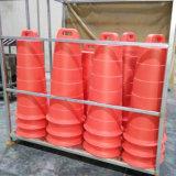 作業域の保護B500LCポリエチレンのトラフィックのドラム、オレンジ(上だけ)