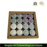 Vela perfumada de Tealight con decoración de pantalla de PVC