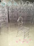 Chaise en plastique de Phoenix de résine transparente en cristal claire de PC