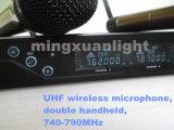 より安い二重手持ち型の無線マイクロフォン(DC2)