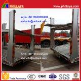 De 2 eixos do Dobro-Plataforma-Carregamento do carro do transporte reboque Semi