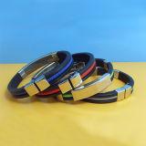 Silicone Wristband con Metal Clip