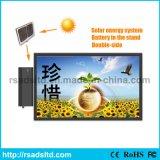 LED esterno commerciale che fa pubblicità alla casella chiara con il comitato solare