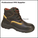 Zapatos de seguridad impermeables cortados colmo del cuero genuino