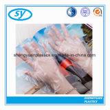 Schützende transparente PET Wegwerfhandschuhe für die Nahrungsmittelübergebung