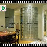 장식적인 유리벽을%s 공간에 의하여 서리로 덥는 단단한 투명한 유리 블럭