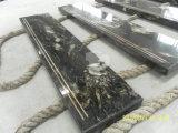 Laje de granito branco branco cinza branco competitivo para bancada e telha