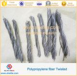 Fibra ferro Twisted del polipropileno de Forta PP de la torcedura de la onda