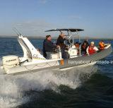 販売のためのLiya 6.6mのガラス繊維の底ボートのHypalonのボートの肋骨