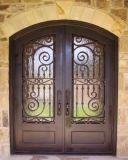 家のための贅沢な菱形の鉄の複式記入のドア