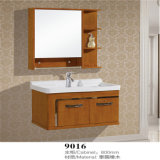 Vanità fissata al muro della stanza da bagno di legno solido di alta qualità