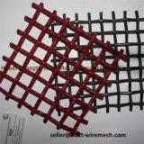 China-Fabrik-rote Farben-Quadrat quetschverbundener Maschendraht