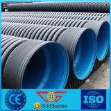 Tubo de desagües acanalado de /Collector del tubo del drenaje de la pared del doble del HDPE Sn4 en drenaje del plástico del sistema /Corrugated del subsuelo