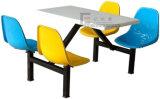 Cadeira de tabela impermeável da cantina do restaurante com 6 assentos