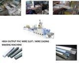 Máquina plástica de la protuberancia de la ranura del alambre del PVC del consumo de energía inferior
