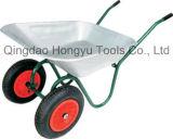 Jardim barato do carrinho de mão de roda de Wb6203A com duas rodas