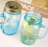 16oz 17oz 32oz Glass Mason Jars Drinking Mason Jar com alça e palha