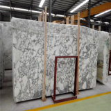 Azulejos Polished del mármol natural al por mayor de la losa de China, mármol blanco de Italia Arabescato
