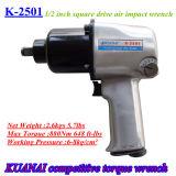 Clé dynamométrique pneumatique de pistolet pneumatique de clé d'incidence de réglage de camion d'outil d'air