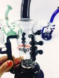 붕규산염 Pyrex Recycler Faberge 분지를 가진 유리제 연기가 나는 수관