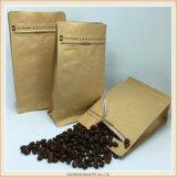 Kundenspezifischer Gravüre-Drucken-Kaffee-Quadrat-Unterseiten-Kaffee-Beutel hergestellt in China