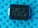 Componente electrónico 1500W, diodo de rectificador de 5-188V Do-214ab TV Smcj45