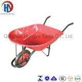 中国Qindaoの赤く美しい園芸工具Wb 5208の手押し車