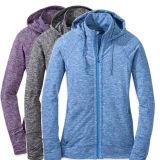 йога Hoodie Hoodie пурпуровая Hoodie пригодности 100%Cotton/Spandex
