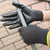 Les nitriles lisses de doublure de polyester ont plongé le gant de travail de sûreté de paume
