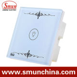 Mur Switch, Remote Control Touch Switch White Lamp ABS Fire Proof 16A 110-220V