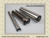Сваренная квадратом труба шлица нержавеющей стали для стеклянной загородки