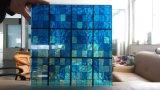 vidrio manchado de 4+4m m para la decoración interior del sitio