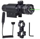 Pistol With Riflescope MountsのためのGreen調節可能なレーザーDOT Scope Sight