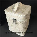 고품질 Handmade PU 저장 상자 선물 보석함