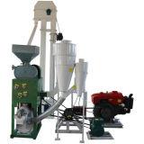 Совмещенные Huller риса & белитель + двигатель дизеля + Elevator