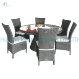 Table FurnitureのリオテラスのSet OutdoorのテラスのRattan Sofa Wicker Sectional Sofaの庭Furniture Set