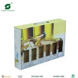 Boîte d'emballage colorée de bouteille à bière de 6 paquets