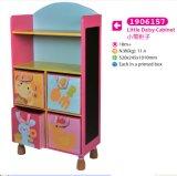 Armário de armazenamento de madeira do armário para miúdos para crianças
