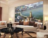 peinture à l'huile méditerranéenne de mur du beau paysage 100%Handmade