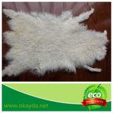 Piatto riccio della pelliccia della pelle di pecora con il prezzo di fabbrica
