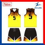 カスタムユニフォームのバスケットボールはチームジャージデザインをセットする