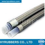 Boyau R14, boyau hydraulique tressé résistant d'acier inoxydable de température élevée de teflon de PTFE