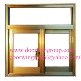 Окно деревянного цвета алюминиевое сползая для селитебной дома