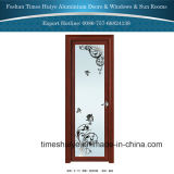 2016 Luxus Aluminium Bathroom Doors mit Flower Design