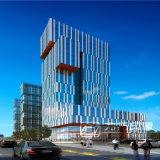 高い商業建物の高リゾリューションは作業をする